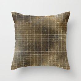 Copper Grid Throw Pillow