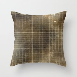 Copper Grid Throw Pillow