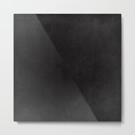 Simple Chalkboard background- black - Autum World Metal Print