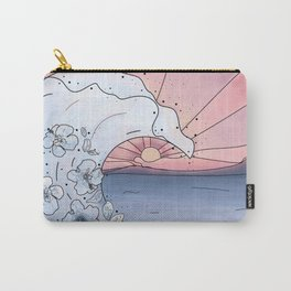 Flower Wave Carry-All Pouch