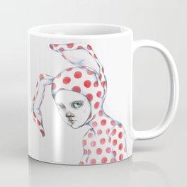 Red Dotted Bunny Coffee Mug