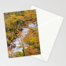 Colored Forest Landscape, Patagonia - Argentina Stationery Cards