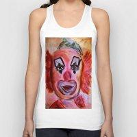 clown Tank Tops featuring Clown by Digital-Art