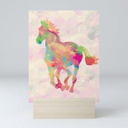 Abstract horse Mini Art Print