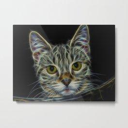 Cat (Electric) Metal Print