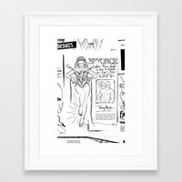 scandal Framed Art Prints featuring Beyonce Scandal by CLSNYC