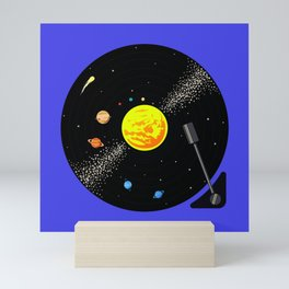 Solar System Vinyl Record Mini Art Print