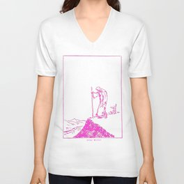 Moses scribble art pink Unisex V-Neck