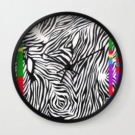 Zebra color Wall Clock