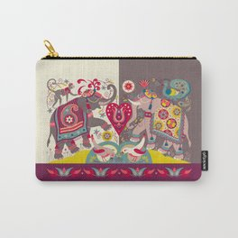 Raja's Garden 'Two Royal Elephants' Carry-All Pouch