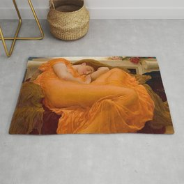 FLAMING JUNE - FREDERIC LEIGHTON Rug