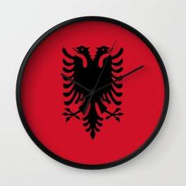 flag of Albania Wall Clock