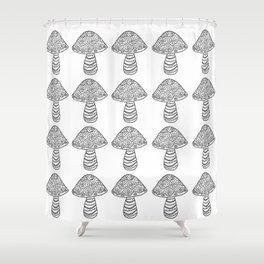 Many Many Mushrooms (1) Shower Curtain