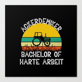 Farmer Gift Tractor Farmer Bachelor Canvas Print