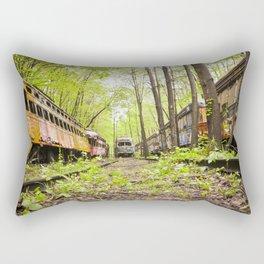 Abandoned Trolley Cemetery Rectangular Pillow