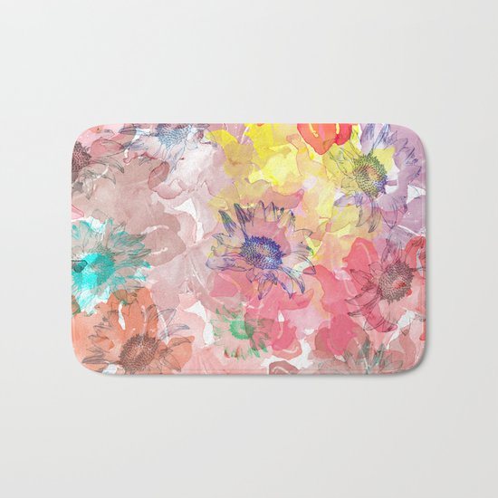 Flower carpet(32). Bath Mat