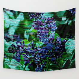 Vintage Textured Painted Lilac Wall Tapestry
