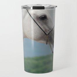 horse collection. arabian white Travel Mug