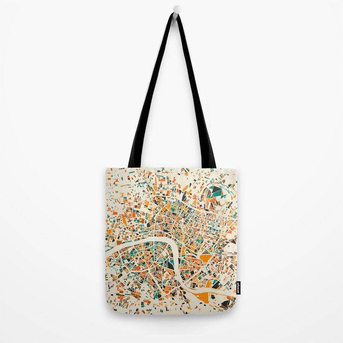 London Mosaic Map #4 Tote Bag