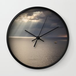 Ship on the Sea Wall Clock