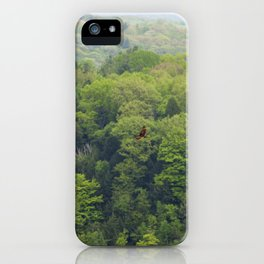 Flying Above the Tree Tops - Spring Trees  iPhone Case