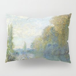 The Banks of The Seine in Autumn by Claude Monet Pillow Sham