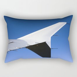 Airplane wing on a blue sky  Rectangular Pillow