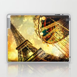 pariS. : Eiffel Tower & Ferris Wheel Laptop & iPad Skin