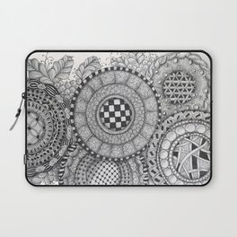 Patterned Circle Collage Laptop Sleeve