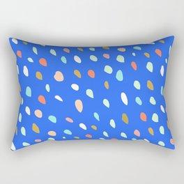 Blue Party Paint Dots Rectangular Pillow