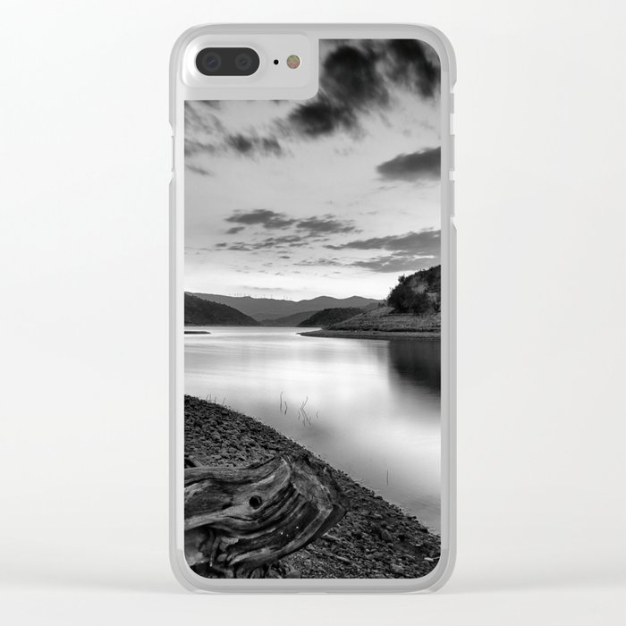 """""""Silver Lake At Sunset"""". Bw Clear iPhone Case"""