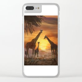 Golden Sunset Clear iPhone Case