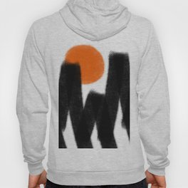 Black mountains, simple abstract nature drawing Hoody