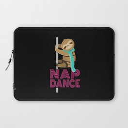 Funny Nap Dance Neon Sign Cute Sloth Pole Dancer Laptop Sleeve