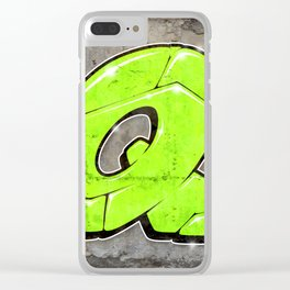Q - Graffiti letter Clear iPhone Case