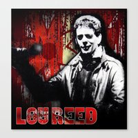 lou reed Canvas Prints featuring Lou by Alan Hogan