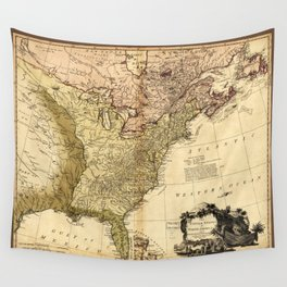 The United States of North America Map (1784) Wall Tapestry
