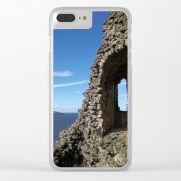 Over the Castle Wall Clear iPhone Case