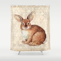 rabbit Shower Curtains featuring Rabbit by Patrizia Ambrosini
