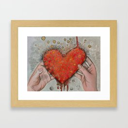 Hold onto your Heart Framed Art Print