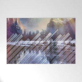 Winter Sun Rays Abstract Nature Welcome Mat