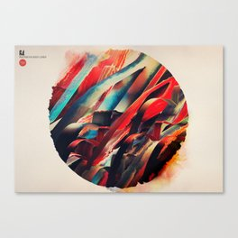 64 Watercolored Lines Canvas Print