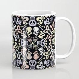 Scary skulls having fun celebrating the Day of the Dead Coffee Mug