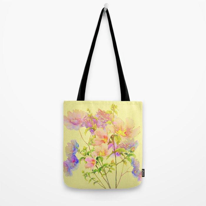 soft pastel floral Tote Bag