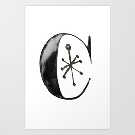 initial C Art Print