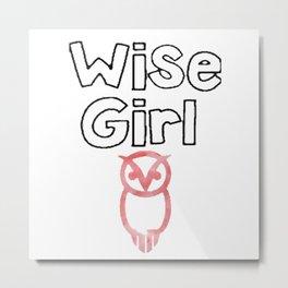 wise girl Metal Print