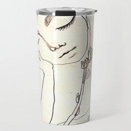 Drawing Figure Travel Mug