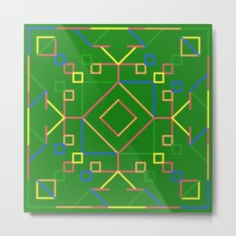 Pattern with Green Background Metal Print