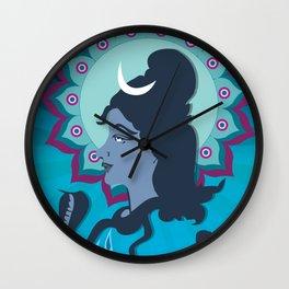 Lord Shiva Digital Illustration Mandala Art Wall Clock