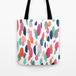 Watercolor Dashes Tote Bag